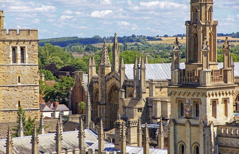 Vue des toits et des flèches d'Oxford image libre de droits