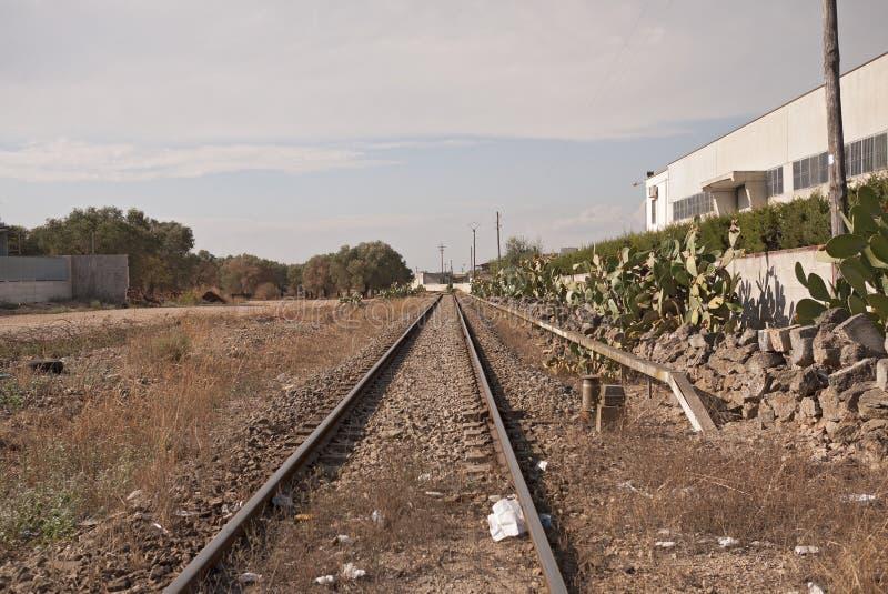 Vue des voies de chemin de fer photographie stock libre de droits