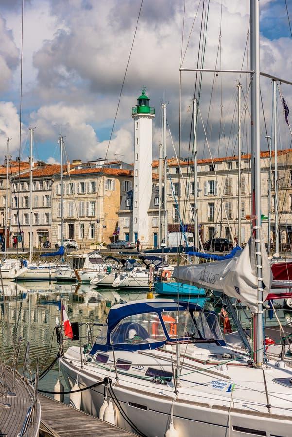 Vue des yachts dans le vieux port, La Rochelle France images libres de droits