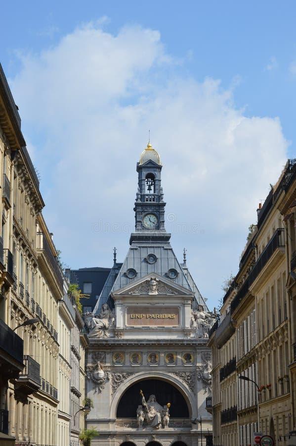 Vue du bâtiment de BNP Paribas sur DES Italiens, Paris de boulevard image stock