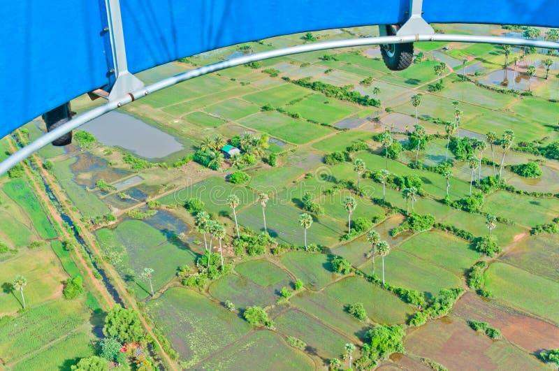 Vue du ballon des zones noyées au Cambodge photos libres de droits