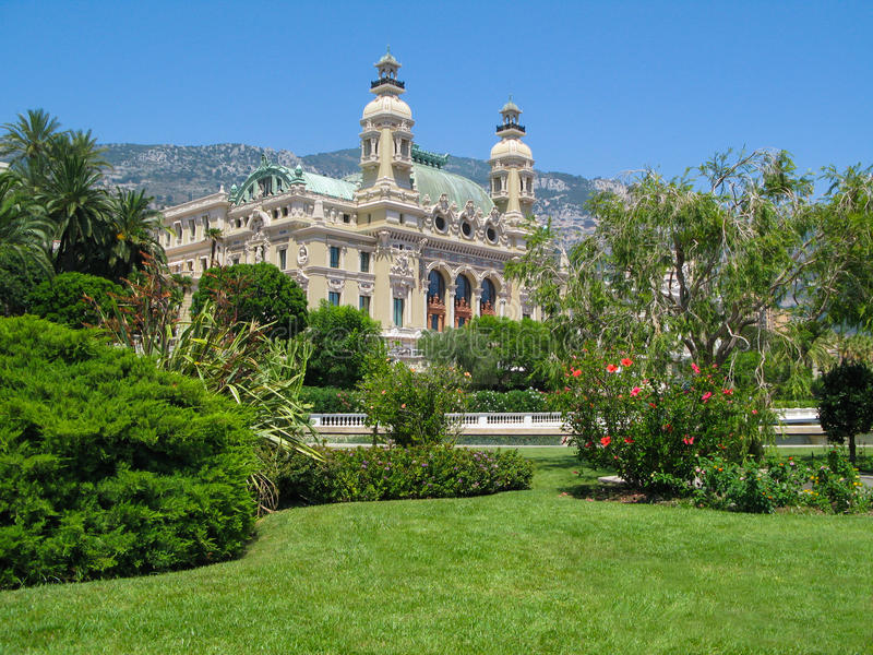 Vue du bord de la mer à Monte Carlo Casino, Monaco photos libres de droits