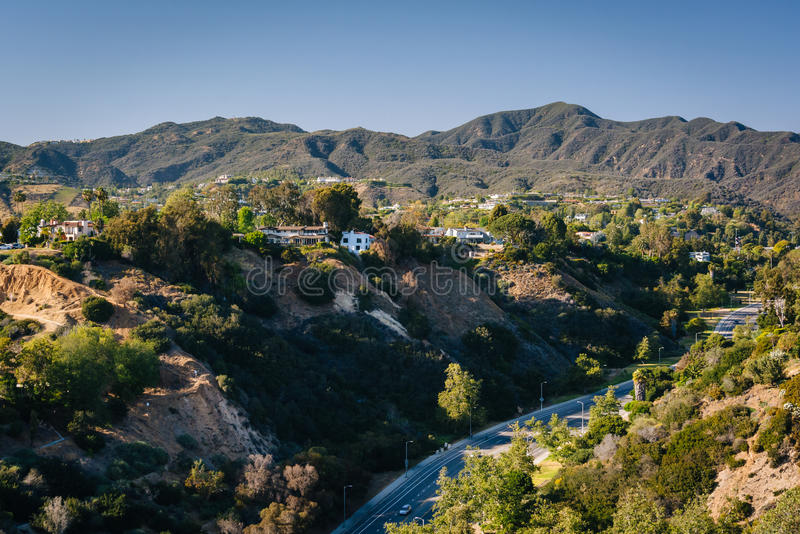 Vue du canyon de Temescal dans Pacific Palisades, la Californie photographie stock libre de droits