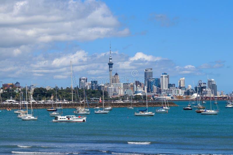Vue du centre d'Auckland photo stock