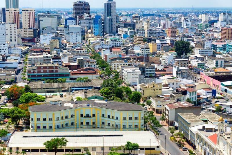 Vue du centre de Guayaquil image libre de droits