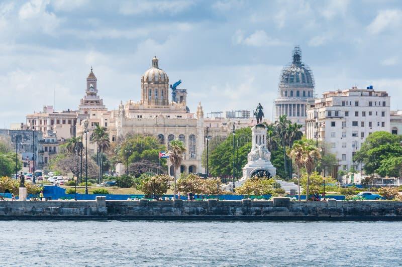 Vue du centre de la ville à La Havane, Cuba photos stock