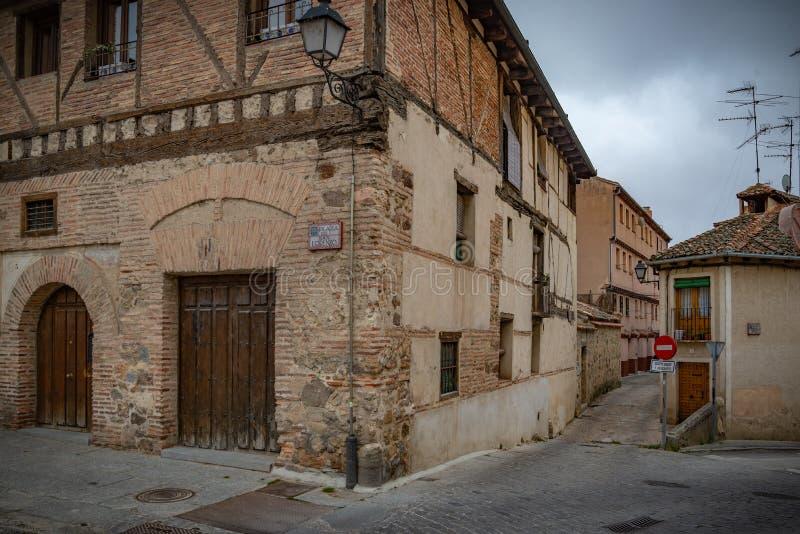 Vue du centre de Ségovie, Espagne photo stock