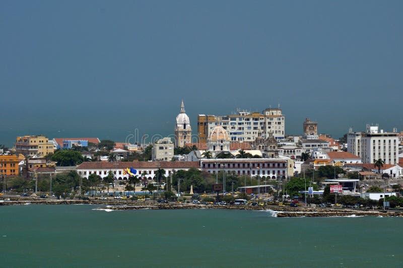 Vue du centre historique de Carthagène, Colombie images libres de droits