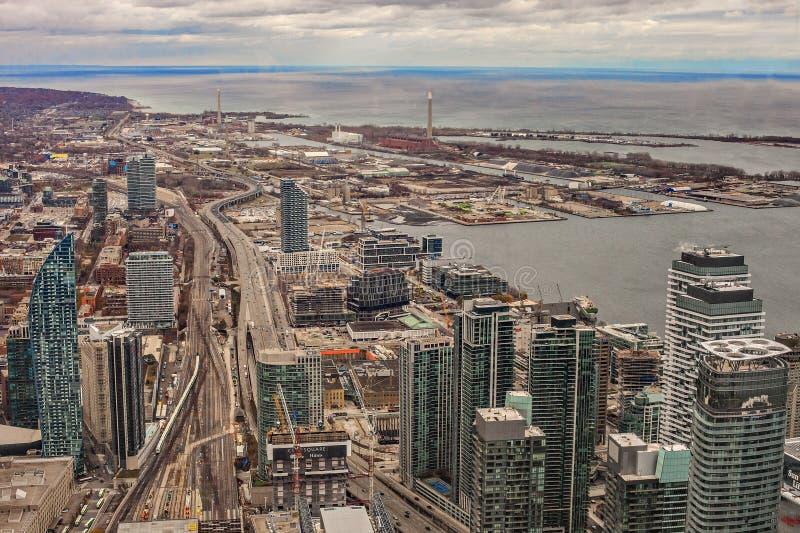 Vue du centre ville de Toronto, vue aérienne d'architecture urbaine de Toronto photos stock