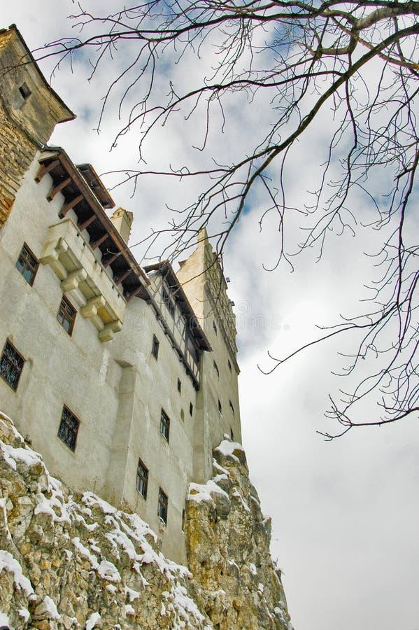 Vue du château de son, Roumanie images stock
