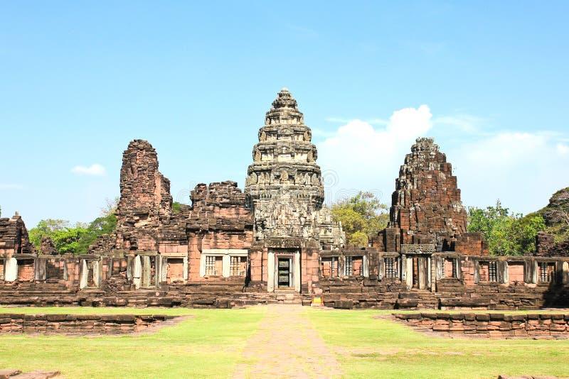 Vue du château historique de Prasat Hin Phimai images stock
