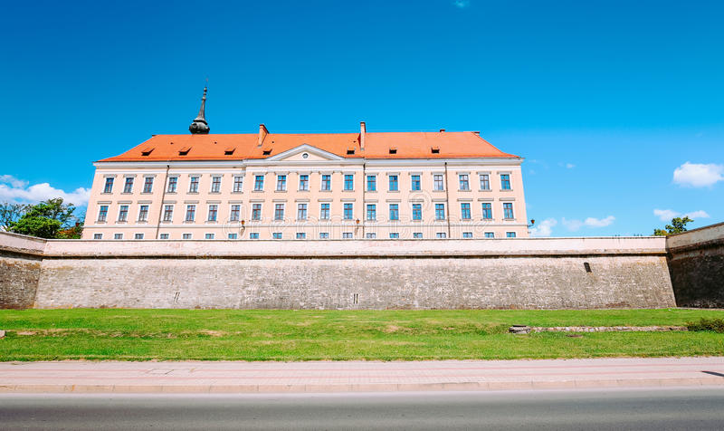 Vue du château Rzeszow/en Pologne images stock