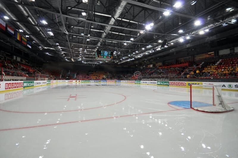 Vue du champ d'hockey photos libres de droits