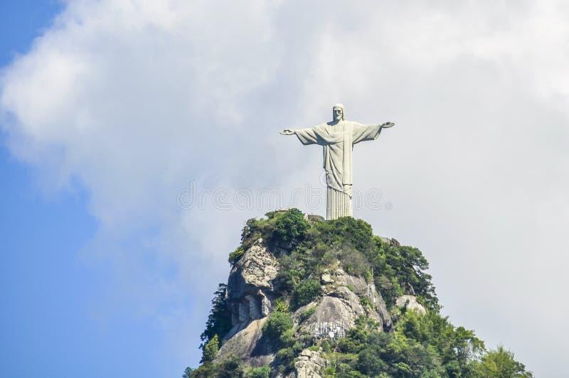 Vue du Christ le rédempteur, Rio de Janeiro, Brésil photos stock