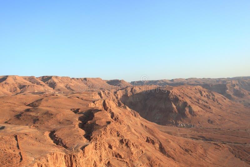 Vue du désert de Judaean de Masada photos stock