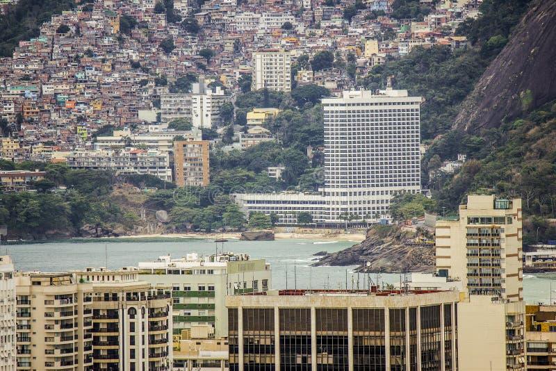 Vue du dessus de la colline de Cantagalo photographie stock