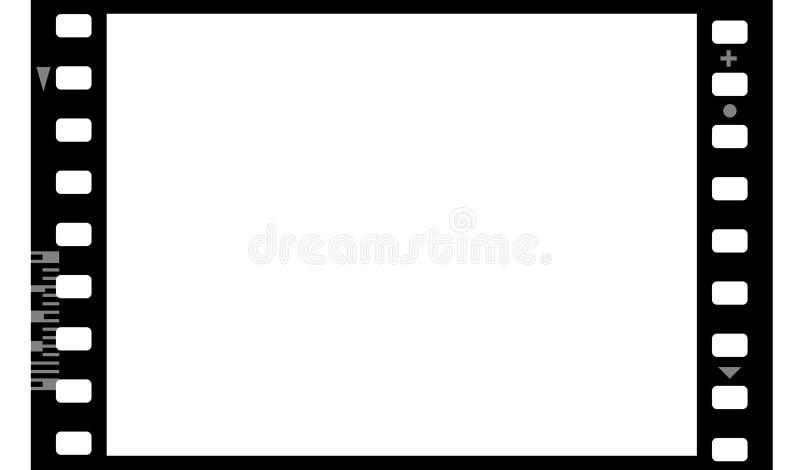 Vue du film photographique (sans joint) illustration stock