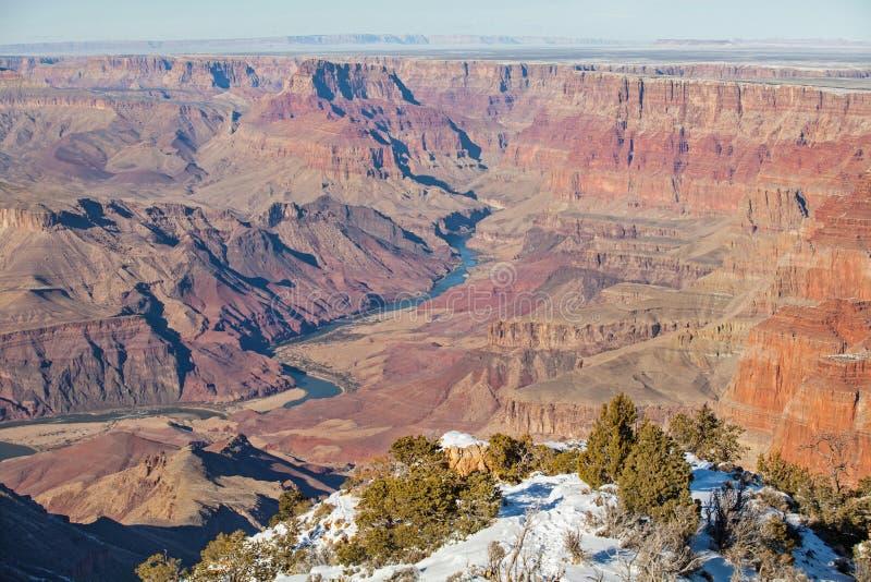 Vue du fleuve Colorado chez Grand Canyon photos libres de droits