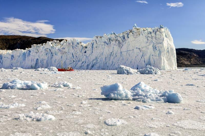 Vue du glacier d'Eqi au Groenland photo libre de droits