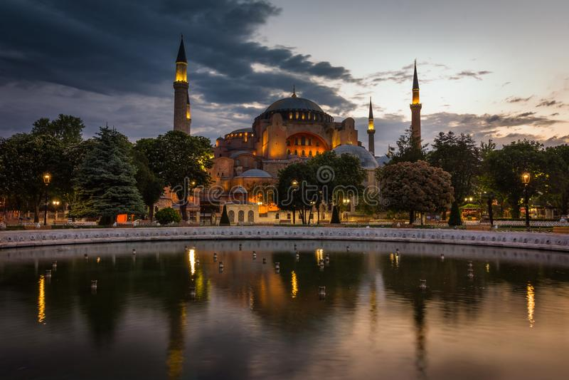 Vue du Hagia célèbre Sophia Ayasofya à Istanbul La Turquie photos stock