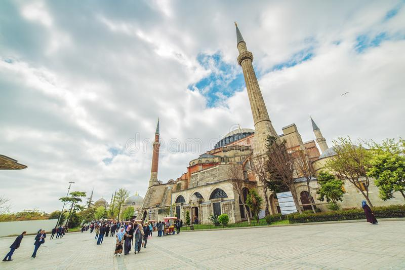 Vue du Hagia Sophia photos libres de droits