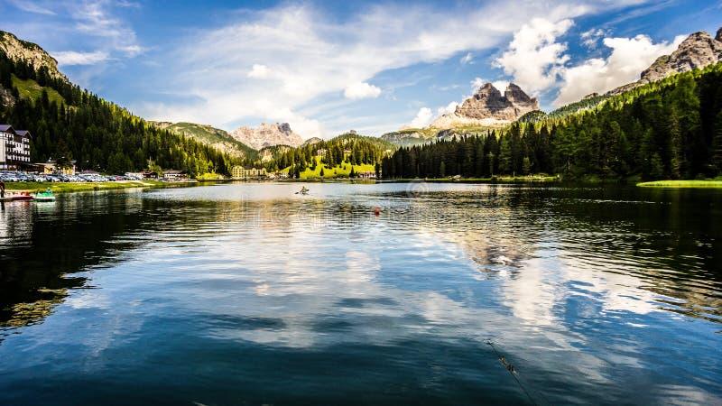 Vue du lac Misurina, Italie photos libres de droits