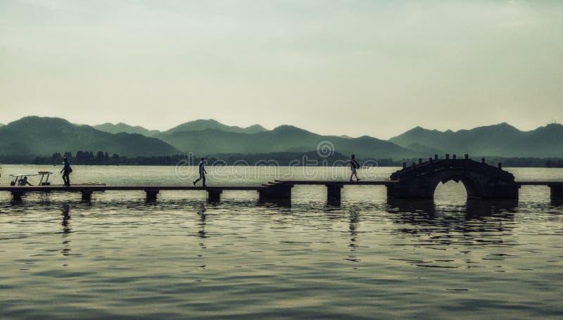 Vue du lac occidental à Hangzhou, Chine image libre de droits