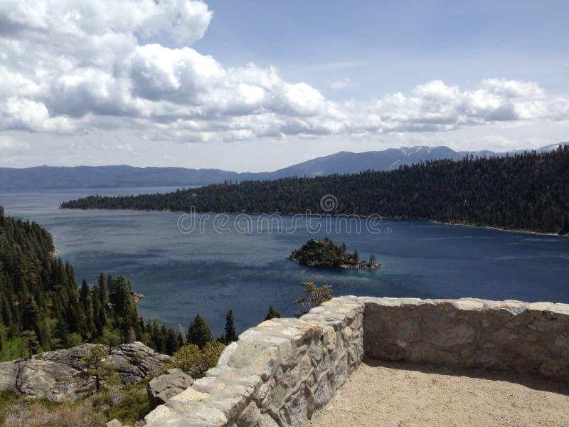 Vue du lac Tahoe la Californie de tache de touristes photographie stock