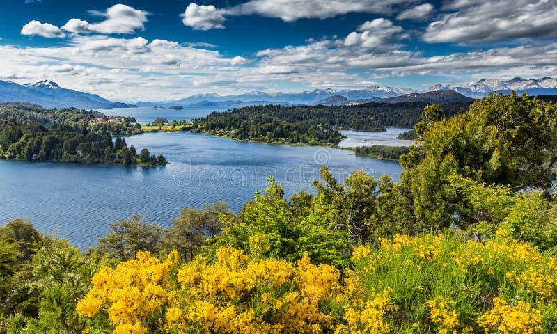Vue du lac Victoria en San Carlos de Bariloche en Amérique du Sud images stock