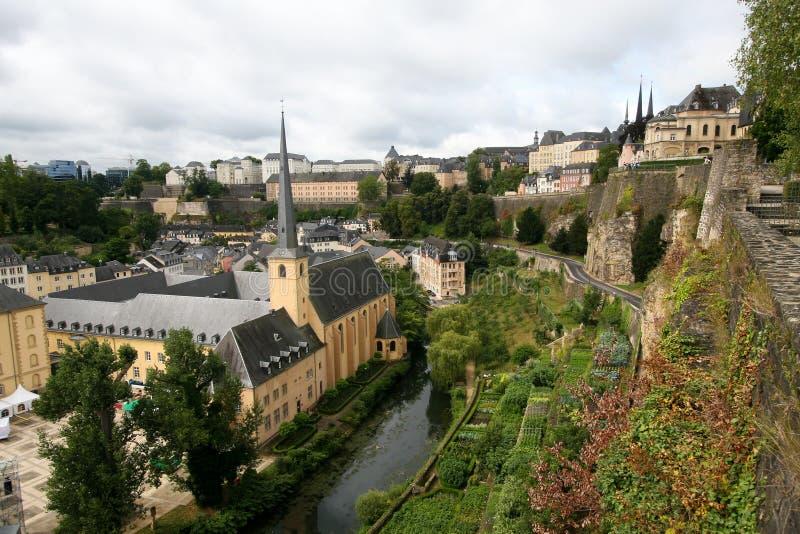 vue du luxembourgeois de ville vieille image stock