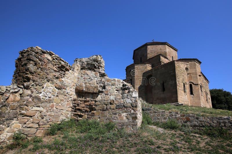 Vue du monastère de Jvari photographie stock