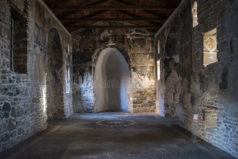 Vue du monastère de Saint Mary, Apollonia, Fier, Albanie photographie stock