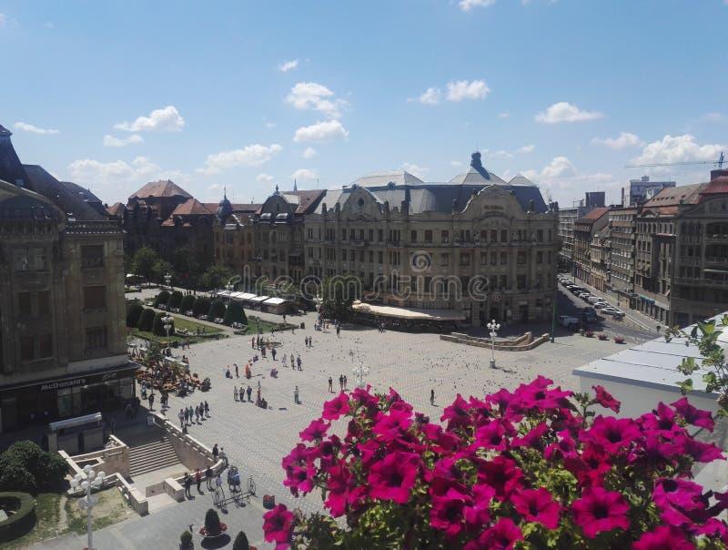Vue du mur à Piata Victoriei, Timisoara photo libre de droits