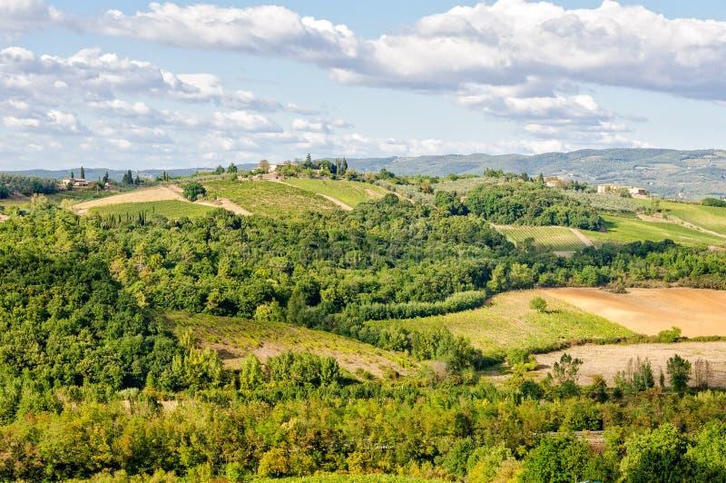 Vue du mur - Monteriggioni photographie stock libre de droits