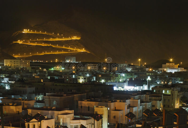 vue du muscat, Sultanat d'Oman. photographie stock