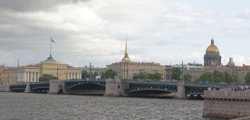 Vue du Neva le 5 juillet ; 2015 à St Petersburg images libres de droits