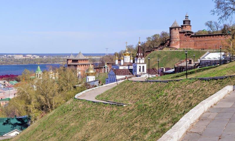 Vue du Nijni-Novgorod Kremlin images stock