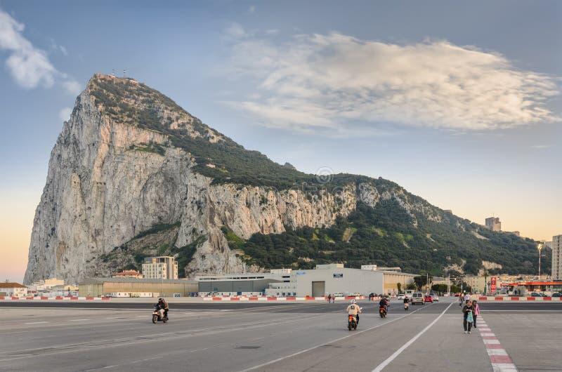Vue du nord de roche du Gibraltar images stock