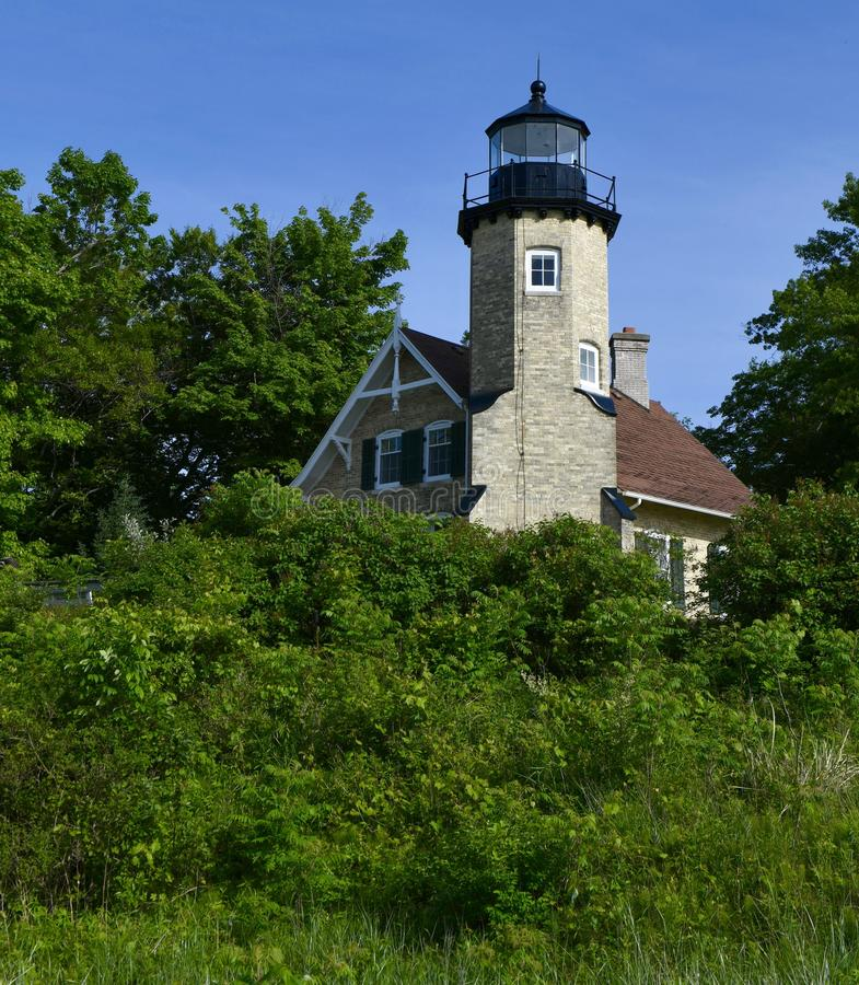 Vue du nord-est du phare de White River photographie stock libre de droits