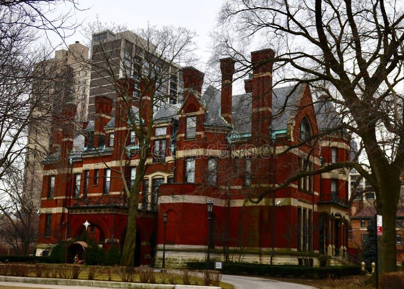 Vue du nord-ouest de résidence de Chicago Archbishop's photo stock