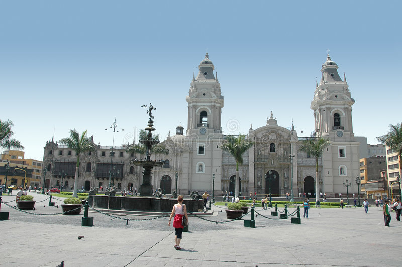 Vue du Pérou de Lima du centre photo stock