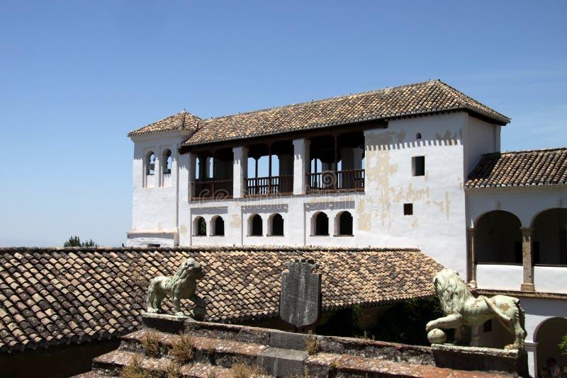 Vue du palais d'Alhambra à Grenade, Andalousie Espagne photographie stock