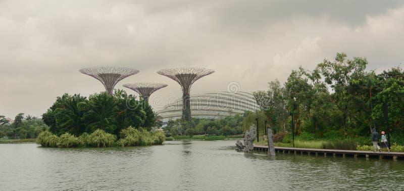 Vue du parc vert à Singapour image libre de droits