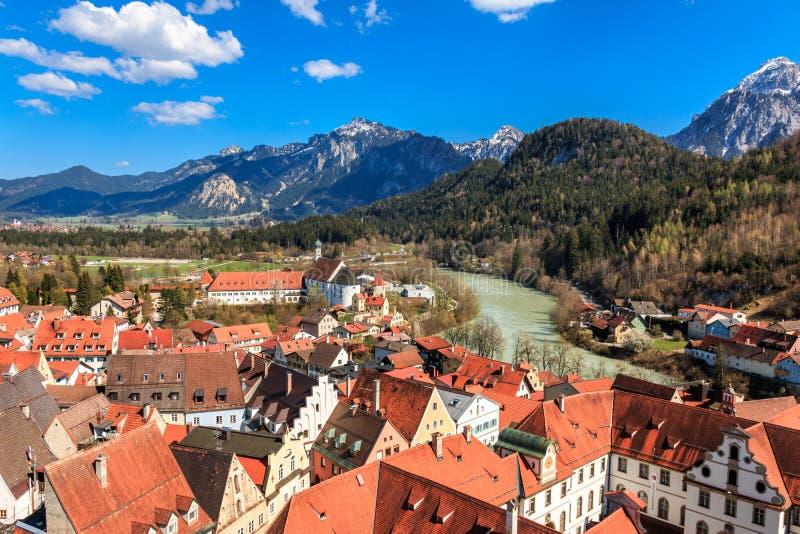 Vue du paysage de montagne à Füssen Allgäu Bavaria Allemagne photo libre de droits
