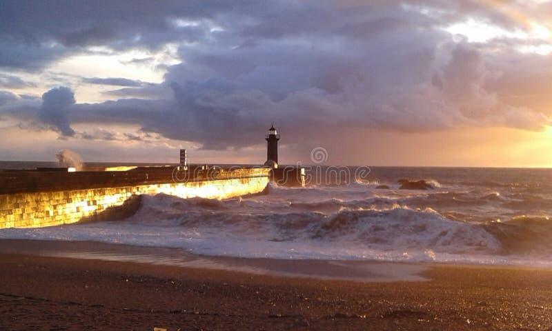 Vue du phare de Porto images stock