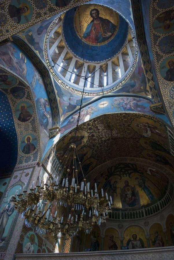 Vue du plafond de la cathédrale de Tbilisi Sioni dans Sionis Kucha, Tbilisi, la Géorgie images stock