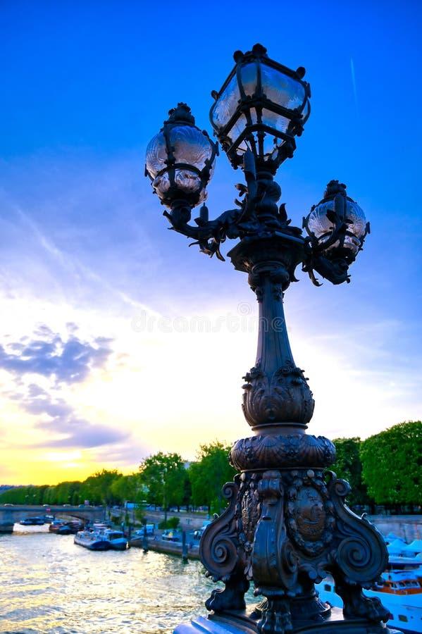 Vue du pont de Pont Alexandre III à Paris, France photo libre de droits
