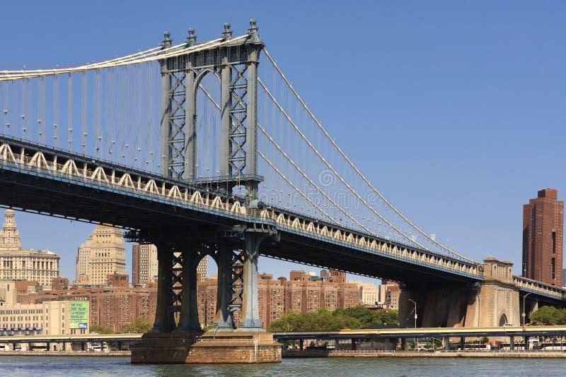 Vue du pont de Manhattan et de Brooklyn, NYC photographie stock
