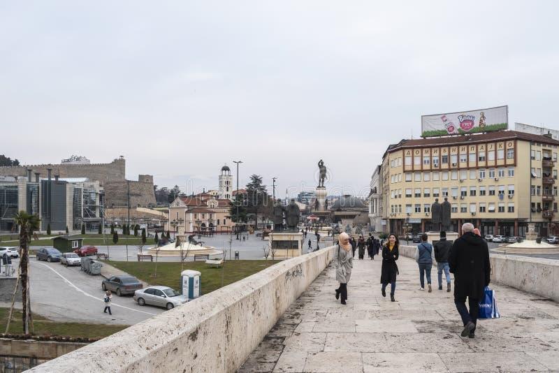 Vue du pont en pierre photo libre de droits