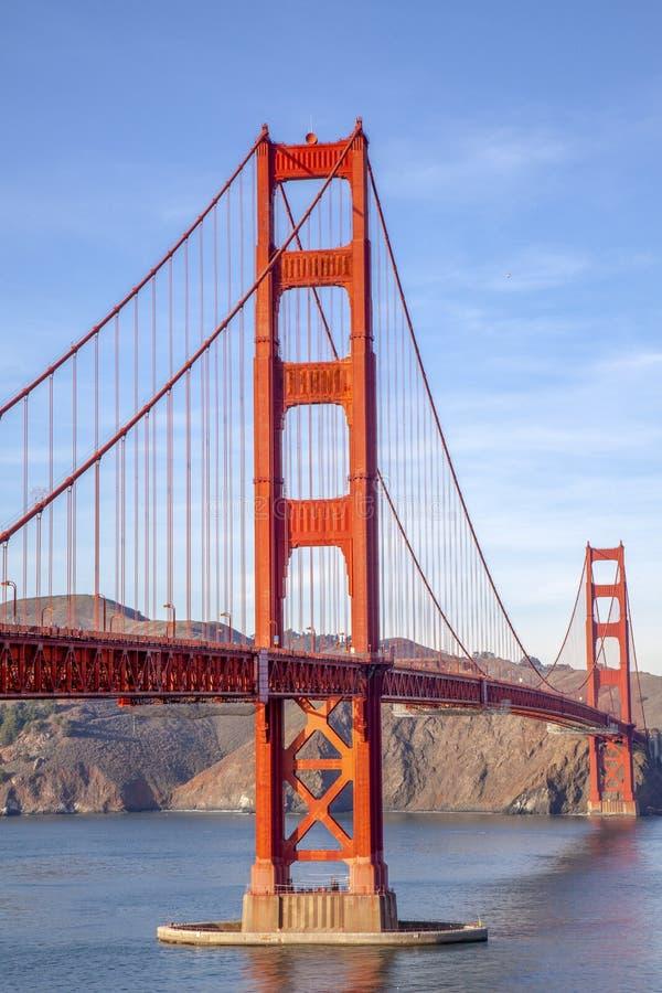 Vue du pont en porte d'or San Francisco, la Californie, Etats-Unis images stock